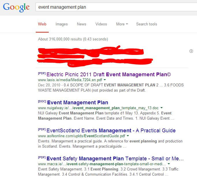 Event management plans dont copy someone elses cuckoo events if you take an emp from a different event or indeed a template and try to use it to tick the box for your event youre taking a lot of different risks maxwellsz
