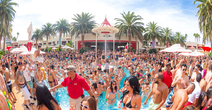 Widely Regarded As THE Best Pool Party In Vegas This One Tends To Attract A Slightly Older Crowd But Still Lands The Big Names EDM Too